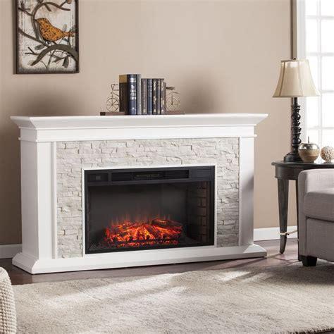 stone electric fireplace ideas  pinterest