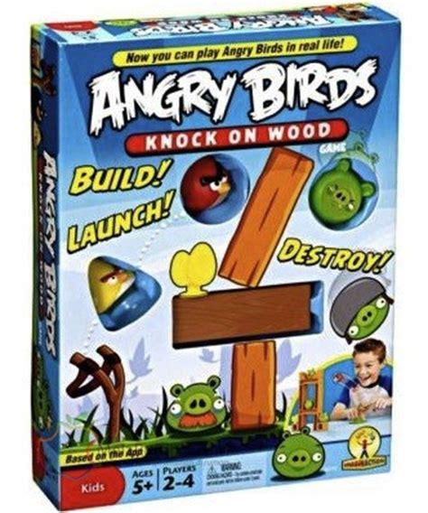 angry birds gioco da tavolo angry birds knock on wood il gioco da tavolo by mattel