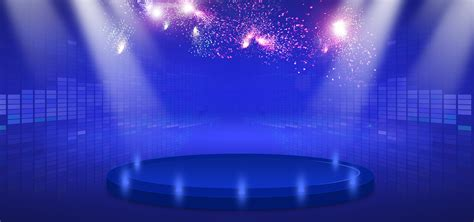 Simple Themes Simple Beautiful Blue Stage Lighting Taobao Themes Stage