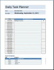 Daily Task Planner Excel Template