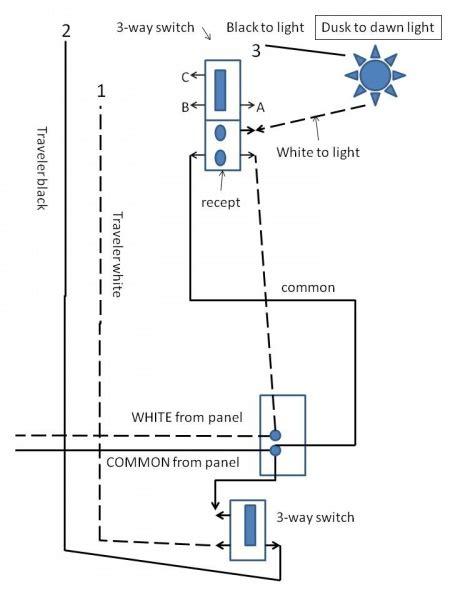 Dusk To Light Wiring Diagram by Dusk 2 End Of Two 3 Way Switches Electrical Diy
