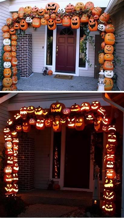 Halloween Porch Decorations Diy Pumpkin Arch Hative