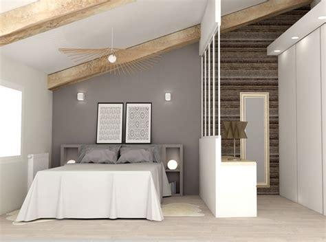 chambre interiors chambre aménagée sous les combles avec dressing http