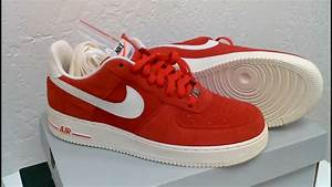 NIKE AF1 *BLAZER* RED SUEDE/SAIL LEATHER REVIEW IN 1080p ...  Nike