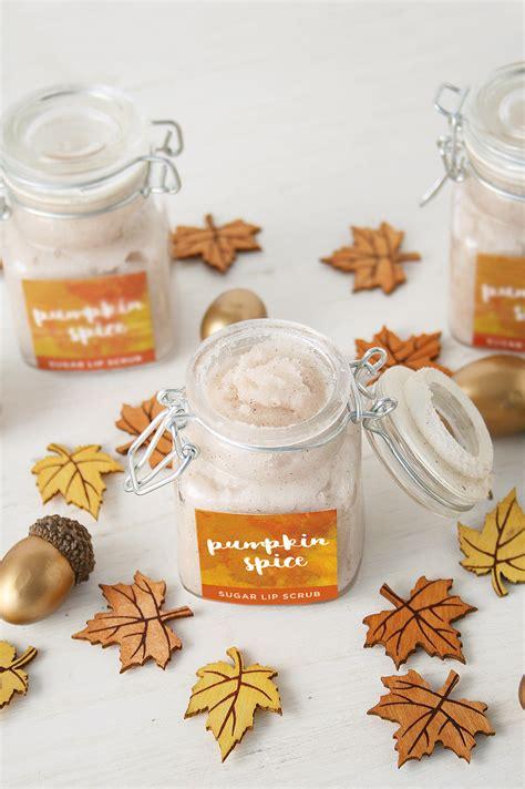 diy pumpkin spice sugar lip scrub  printable club