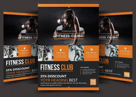 gym flyer designs examples psd ai word eps