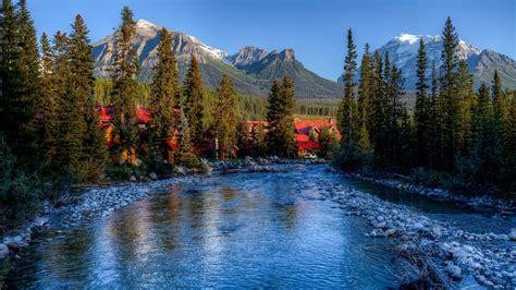 amazing alberta banff canada desktop pc  mac