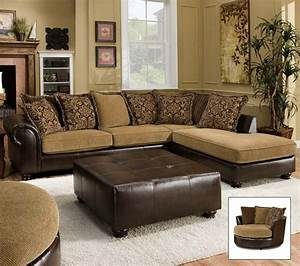 Leather fabric combo sectional decor ideas pinterest for Ideas to separate a sectional sofa