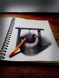 27  3d Pencil Drawings  Art Ideas