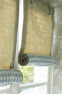 Grasshoppers interiors how to make a rolled up blind for How to make roll up curtains