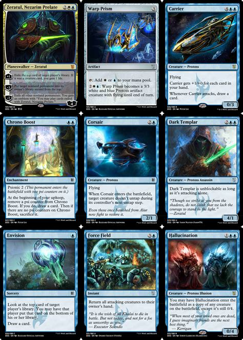 mtg deck themes ideas fans create starcraft themed magic the gathering decks