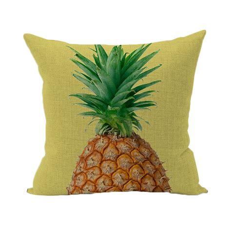 housse de coussin ananas  cm linge de maison par
