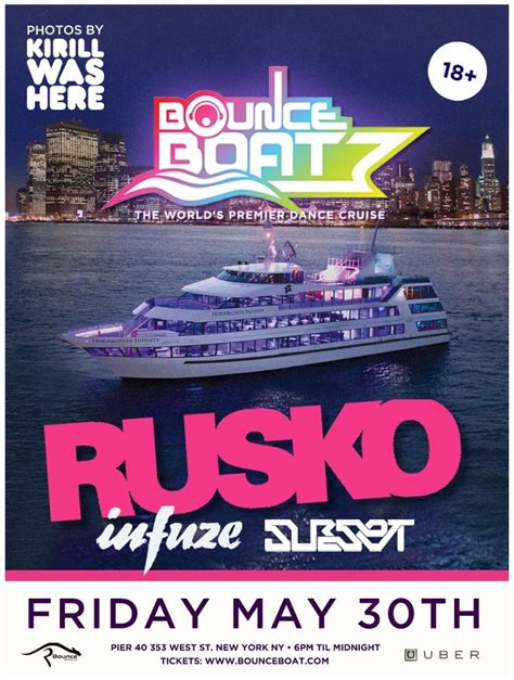 Edm Boat Cruise Nyc by Bounce Boat Returns To Nyc May 30 With Rusko Your Edm