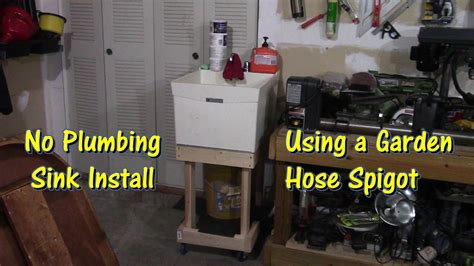 Sink In Garage by How To Install A Sink In Your Garage By Gettinjunkdone