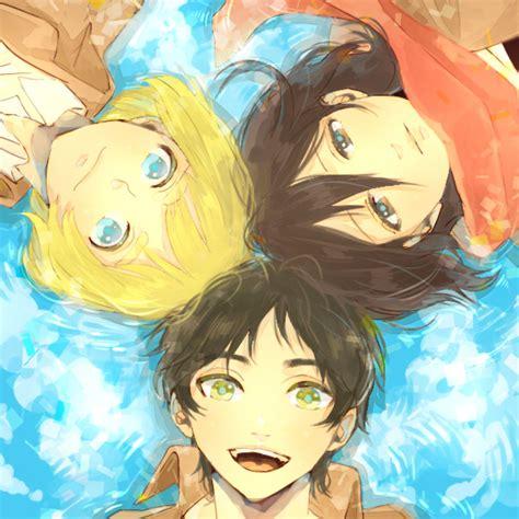 fanart anime kawaii kawaii snk trio kawaii anime fan 35584441 fanpop