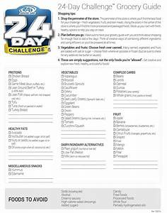Advocare 24 Day Challenge Grocery List grocery list template