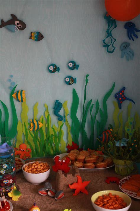 decoration feutrine poissons pieuvre sous marin