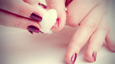 remove nail polish  leaving stains