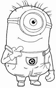 Step step 097 How to Draw Kevin the Minion from Despicable ...