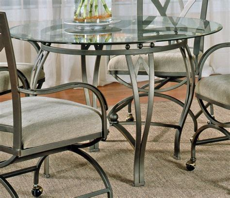 steve silver madrid glass top    dining table
