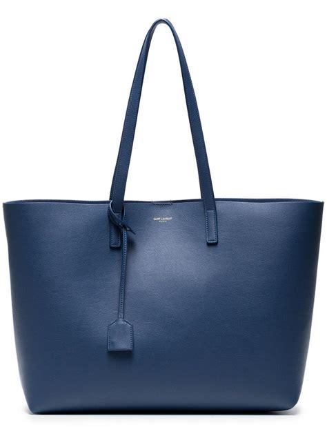 borsa shopper blu donna borse tote yves saint laurent  system