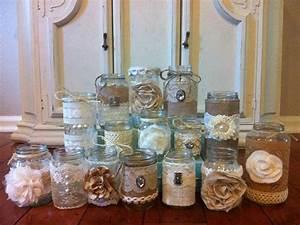 burlap lace mason jars rustic wedding decor melisa With rustic wedding decor wholesale