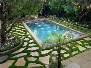 Backyard garden design, beautiful small back yard swimming ...