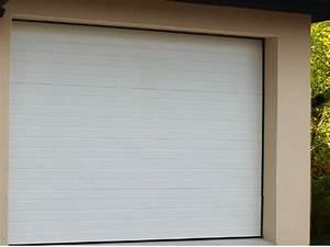 porte de garage acier sectionnelles pre montee blanche With porte garage vial