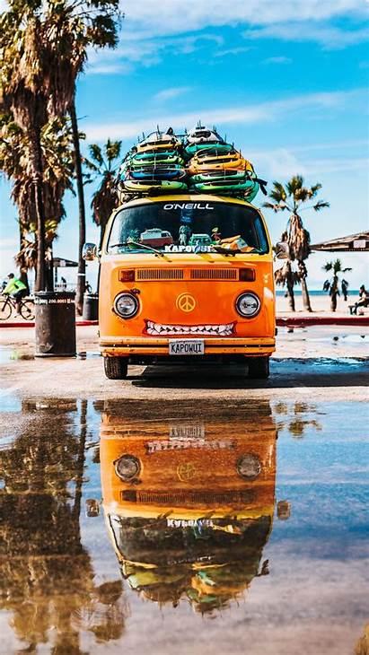 Surfing Bus Summer Background Iphone Parallax 6s