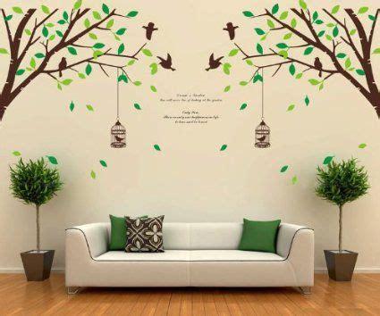 stickers muraux chambre b b gar on ufengke xlarge série de jardin vert arbres verts branches