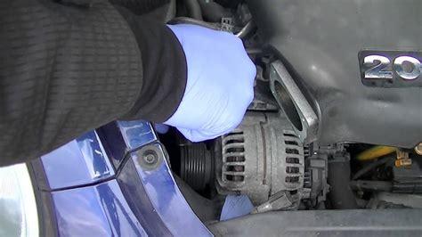 vw  turbo alternator removal simple easy steps youtube