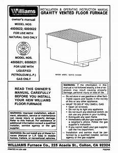 Williams Furnace 4505622 User Guide