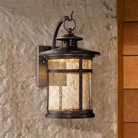 callaway rustic bronze led outdoor wall light eu5x185