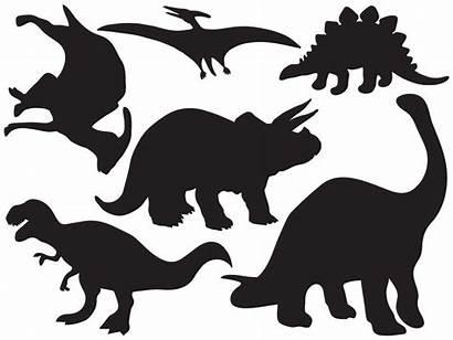 Dinosaur Silhouettes Decal Sticker Wall Colorful Wallmonkeys