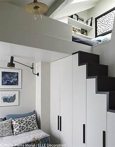 emejing mezzanine chambre sous pente pictures amazing With salle de bain sous mezzanine