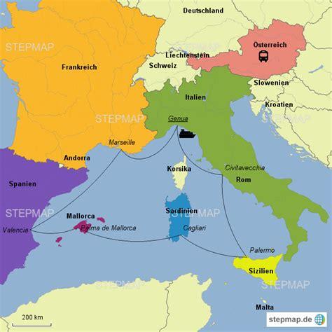 stepmap westliches mittelmeer msc landkarte fuer europa