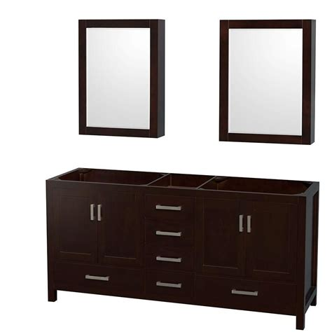 double mirror bathroom cabinet wyndham collection sheffield 70 inch double vanity cabinet