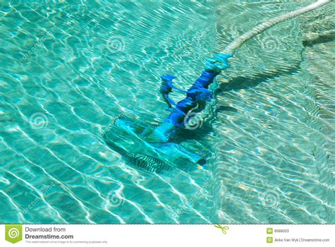 Cleaning Swimming Pool Stock Image. Image Of Diver