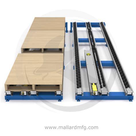 floor separator pallet flow racking pallet separator mallard manufacturing