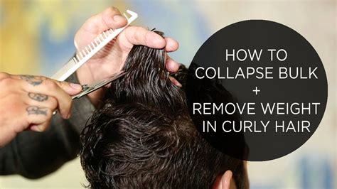 How To Hair by How To Collapse Bulk Remove Weight In Curly Hair