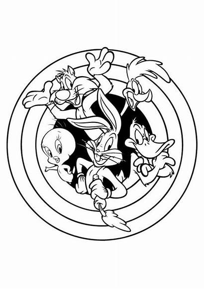 Coloring Looney Jam Tunes Pages Space Drawing