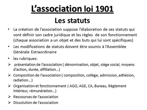 association loi 1901 bureau association loi 1901 changement bureau 28 images
