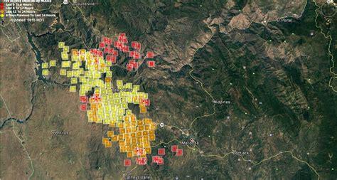 wednesday july   updates  detwiler wildfire