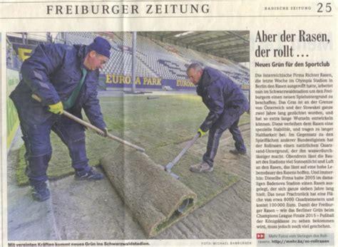Aber Der Rasen Rollt… Neues Grün Für Den Sportclub