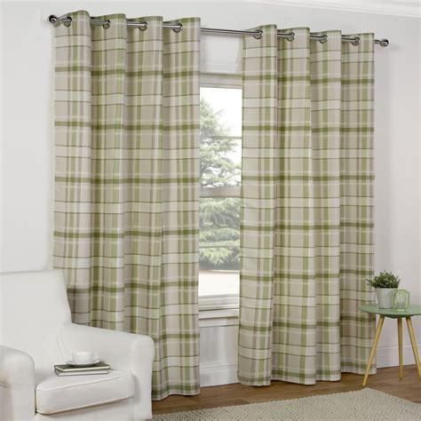 green check curtains wilko curtains green check 167x183cm interior design 1353