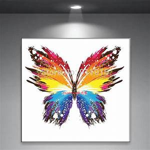 Aliexpress com Buy Handmade Abstract Butterfly Picture