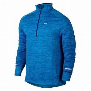 Nike Element Sphere Half-Zip Running Top- Blue-Mens   Running Clothing   RUNNING u0026 FITNESS