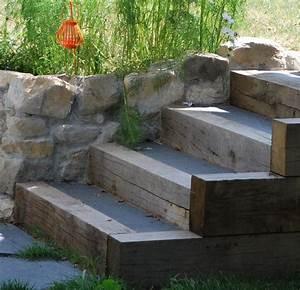 les 25 meilleures idees de la categorie escalier exterieur With jardin gravier comment faire 6 decoration paysagere traverses paysagares en bois