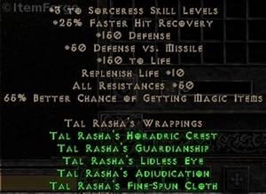 Full Tal Rasha's Wrappings Set for Sorceress (Diablo 2 ...