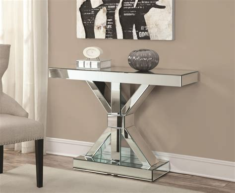 Silver Entryway Table And Mirror Set